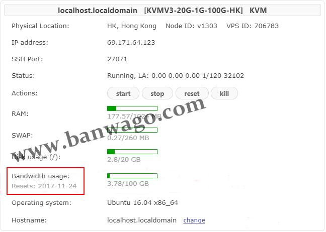 Bandwagonhost/搬瓦工VPS流量用完了怎么办?