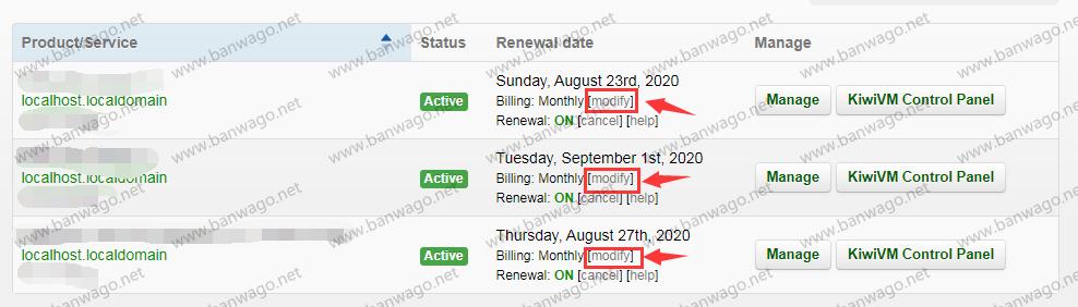 搬瓦工 VPS 怎么修改付款周期让月付或者季付变为年付