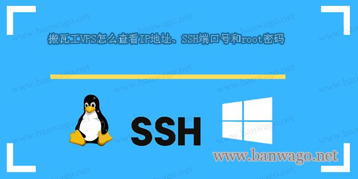 搬瓦工VPS怎么查看IP地址、SSH端口号和root密码