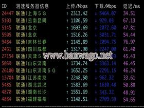搬瓦工日本 VPS 国内三网(电信、移动、联通)上传 / 下载速度测试