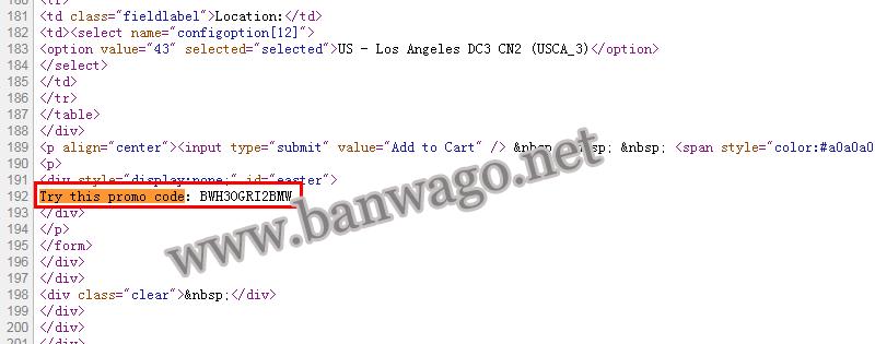 隐藏在搬瓦工官网的优惠码从哪里寻找